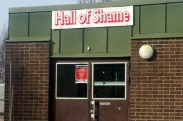 "Ärentunaskolans Sporthall ""The Hall of Shame"". (Foto: Privat)"